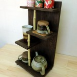 白竹を使用した茶棚。