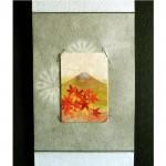 味わい深く秋を彩る和紙の掛け軸セット♪