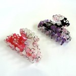 鮮やかな桜柄の着物生地を使用したバンスクリップ☆