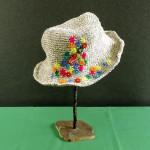 お花の刺繍が可愛らしい♪ コットンヘンプの夏帽子☆