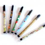 鮮やかな日本の文様の筆ペン☆