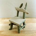 天然流木と石で作ったミニチュア椅子☆