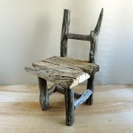 流木で作ったガーデン用の椅子☆