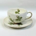 クローバー柄のコーヒー碗皿☆