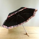 折りたたみ式の晴雨兼用和風傘☆