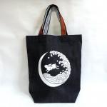 昭和レトロな雰囲気のデニムトートバッグ3柄追加しました☆