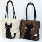 軽やかで涼しげな夏素材の猫バッグ★