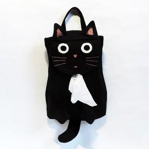 吊り下げ可能な可愛らしい黒猫のティッシュボックスカバー★
