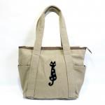 モコモコの猫刺繍が可愛らしいデカバッグ3色追加★