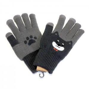 ユニークな柄のスマホ対応あったか手袋5種追加しました★