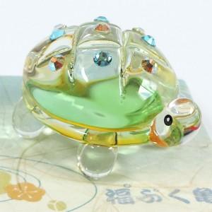 クリスタルガラスの亀の置物★